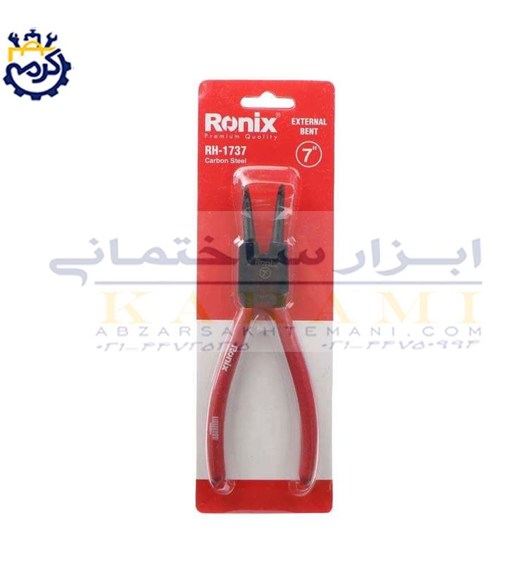 انبر خار باز کن سر کج رونيکس مدل RH-1737